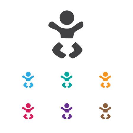 Vector Illustration Of Child Symbol On Infant Icon. Premium Quality Isolated Newborn Kid Element In Trendy Flat Style. Ilustração