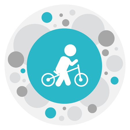 Vector Illustration Of Baby Symbol On Wheels Icon. Premium Quality Isolated Velocipede Element In Trendy Flat Style. Illustration