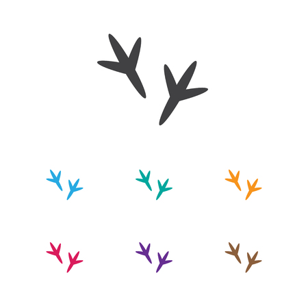 Vector Illustration Of Animal Symbol On Chicken Feet Icon. Premium Quality Isolated Footprint Element In Trendy Flat Style. Stock Illustratie