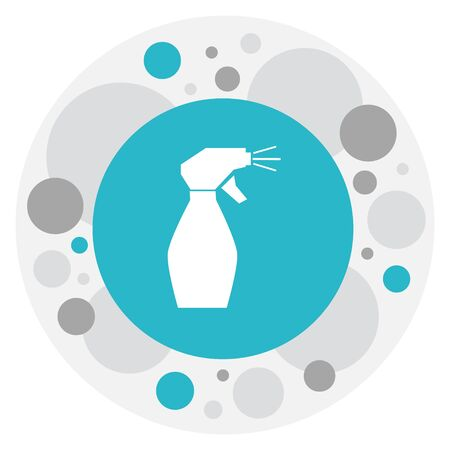 Vector Illustration Of Barber Symbol On Glass Spray Icon. Premium Quality Isolated Window Cleaner Element In Trendy Flat Style.