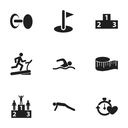 heavy construction: Set Of 9 Editable Training Icons. Includes Symbols Such As Flag, Strength, Training Pool And More. Can Be Used For Web, Mobile, UI And Infographic Design.