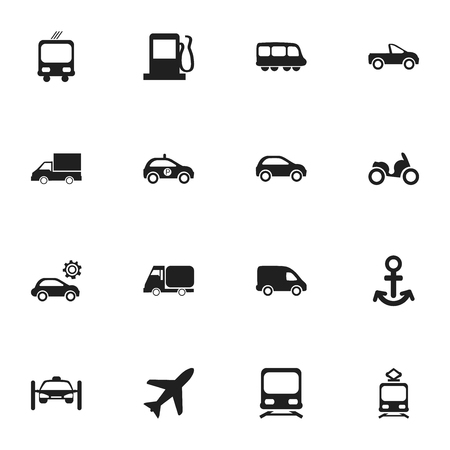 conveyor rail: Set Of 16 Editable Shipment Icons. Includes Symbols Such As Moped, Garage, Fuel And More. Can Be Used For Web, Mobile, UI And Infographic Design.