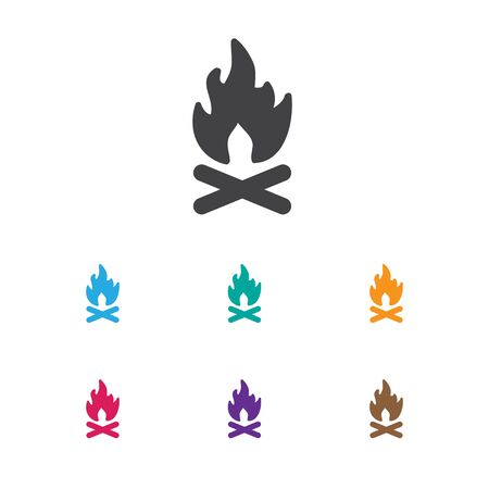 Vector Illustration Of Travel Symbol On Flame Icon. Premium Quality Isolated Fever  Element In Trendy Flat Style. Illustration