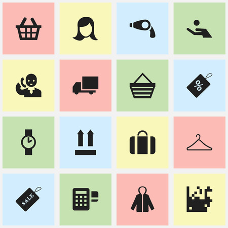 hangers: Set Of 16 Editable Business Icons. Includes Symbols Such As Badge, Identification, Investment And More. Can Be Used For Web, Mobile, UI And Infographic Design.