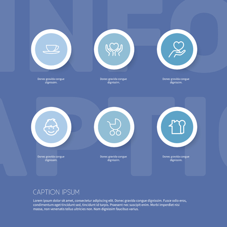 Set Of 6 Editable Folks Icons. Includes Symbols Such As Key, Son, Care And More. Can Be Used For Web, Mobile, UI And Infographic Design.