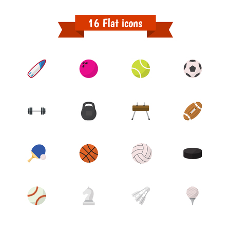 Set Of 16 Editable Active Icons. Includes Symbols Such As Surfriding, Washer, Sphere And More. Can Be Used For Web, Mobile, UI And Infographic Design.