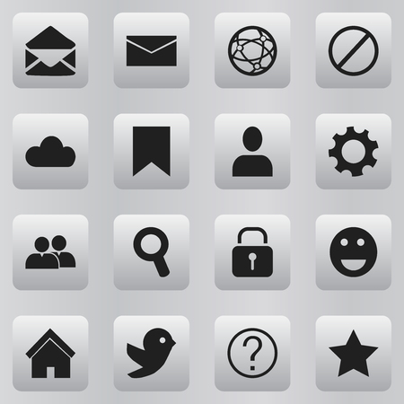 deny: Set Of 16 Editable Network Icons. Includes Symbols Such As Magnifier, Settings, Deny And More. Can Be Used For Web, Mobile, UI And Infographic Design.