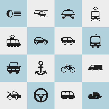velocipede: Set Of 16 Editable Transport Icons. Includes Symbols Such As Cycle, Van, Shipping And More. Can Be Used For Web, Mobile, UI And Infographic Design.
