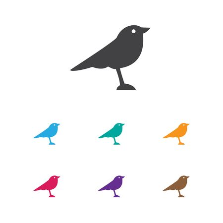 Vector Illustration Of Animal Symbol On Thrush Icon. Premium Quality Isolated Catbird Element In Trendy Flat Style.