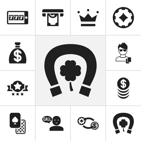 dime: Set Of 12 Editable Gambling Icons. Includes Symbols Such As Clubs, Badge, Swap And More. Can Be Used For Web, Mobile, UI And Infographic Design.