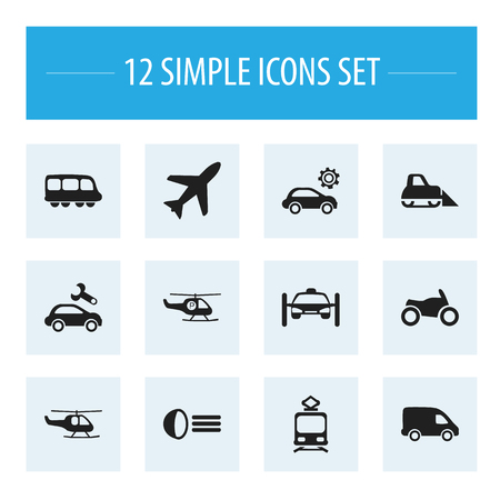 plow: Set Of 12 Editable Transport Icons. Includes Symbols Such As Delivery, Chopper, Repairing And More. Can Be Used For Web, Mobile, UI And Infographic Design. Illustration