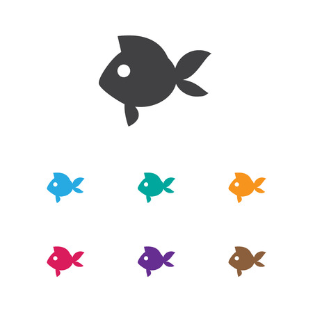 Vector Illustration Of Animal Symbol On Fish Icon. Premium Quality Isolated Turbot  Element In Trendy Flat Style. Illustration