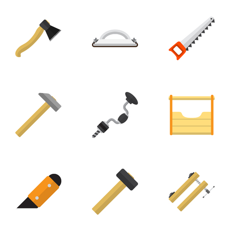 exchanger: Set Of 9 Editable Instrument Icons. Includes Symbols Such As Nag, Boer, Hammer And More. Can Be Used For Web, Mobile, UI And Infographic Design.