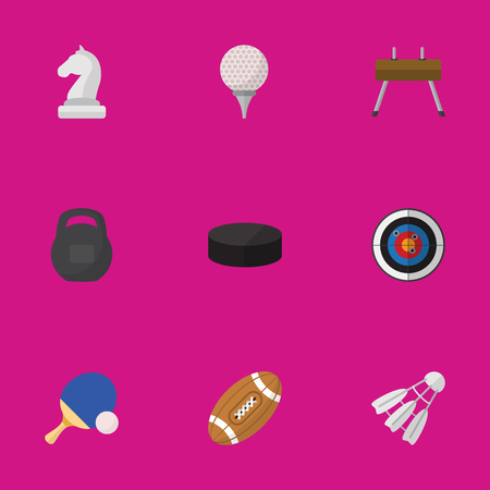 Set Of 9 Editable Sport Icons. Includes Symbols Such As Gir, Badminton, Washer And More. Can Be Used For Web, Mobile, UI And Infographic Design. Illustration