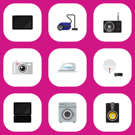 palmtop: Set Of 9 Editable Technology Icons. Includes Symbols Such As Palmtop, Notebook, Megaphone And More. Can Be Used For Web, Mobile, UI And Infographic Design.