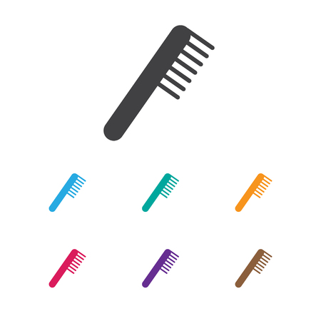 Vector Illustration Of Hairdresser Symbol On Grooming Icon. Premium Quality Isolated Comb Element In Trendy Flat Style.