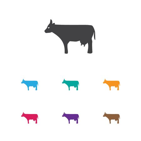 Vector Illustration Of Zoology Symbol On Cow Icon. Premium Quality Isolated Kine Element In Trendy Flat Style. Illustration
