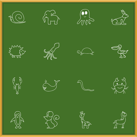 cachalot: Set Of 16 Editable Zoology Icons. Includes Symbols Such As Cachalot, Polar Bird, Elephant And More. Can Be Used For Web, Mobile, UI And Infographic Design.