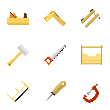 Set Of 9 Editable Equipment Icons. Includes Symbols Such As Tool, Clinch, Meter And More. Can Be Used For Web, Mobile, UI And Infographic Design.