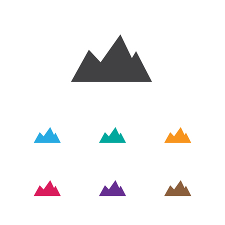 Vector Illustration Of Trip Symbol On Mountain Icon. Premium Quality Isolated Peak  Element In Trendy Flat Style. Illustration