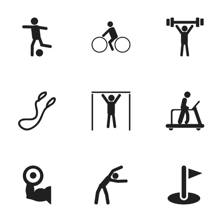 legs up: Set Of 9 Editable Training Icons. Includes Symbols Such As Exercise, Heavy Training, Jump Training And More. Can Be Used For Web, Mobile, UI And Infographic Design.