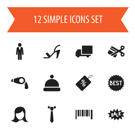 dealing: Set Of 12 Editable Business Icons. Includes Symbols Such As Badge, Heel Cothurnus, Striped And More. Can Be Used For Web, Mobile, UI And Infographic Design.