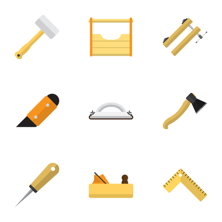 exchanger: Set Of 9 Editable Apparatus Icons. Includes Symbols Such As Emery Paper, Tool, Meter And More. Can Be Used For Web, Mobile, UI And Infographic Design.