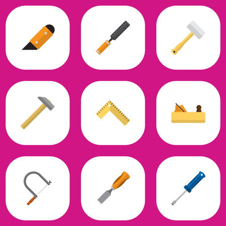 filling folder: Set Of 9 Editable Equipment Icons. Includes Symbols Such As Turn-Screw, Bit, Jointer And More. Can Be Used For Web, Mobile, UI And Infographic Design. Illustration