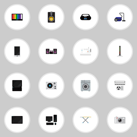 palmtop: Set Of 16 Editable Tech Icons. Includes Symbols Such As Laundromat, Cassette Player, Palmtop And More. Can Be Used For Web, Mobile, UI And Infographic Design.