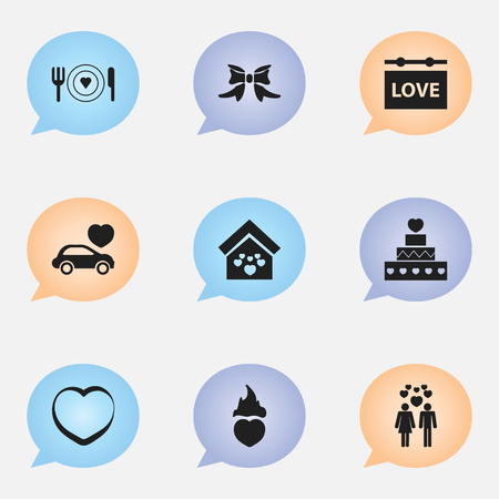 Set Of 9 Editable Passion Icons. Includes Symbols Such As Car, Dishes, Pastry And More. Can Be Used For Web, Mobile, UI And Infographic Design.