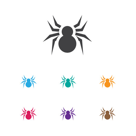 Vector Illustration Of Animal Symbol On Spider Icon. Premium Quality Isolated Arachnid Element In Trendy Flat Style.
