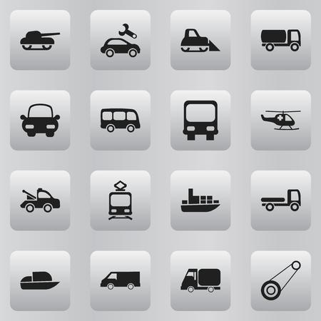 Set of 16 editable shipment icons Illustration