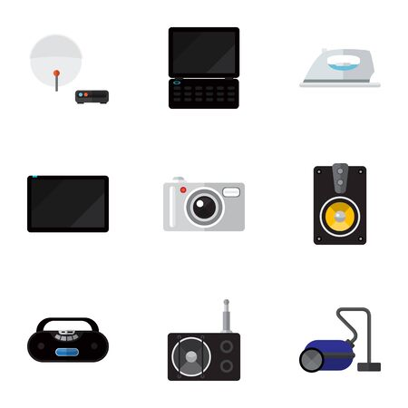 palmtop: Set Of 9 Editable Technology Icons. Includes Symbols Such As Megaphone, Antenna, Palmtop And More. Can Be Used For Web, Mobile, UI And Infographic Design.