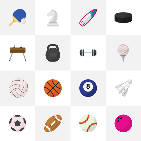 surf team: Set Of 16 Editable Lifestyle Icons. Includes Symbols Such As Ball, Sphere, Touchdown And More. Can Be Used For Web, Mobile, UI And Infographic Design. Illustration