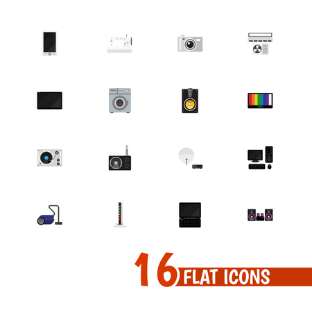 palmtop: Set Of 16 Editable Home Icons. Includes Symbols Such As Cellphone, Palmtop, Notebook And More. Can Be Used For Web, Mobile, UI And Infographic Design.
