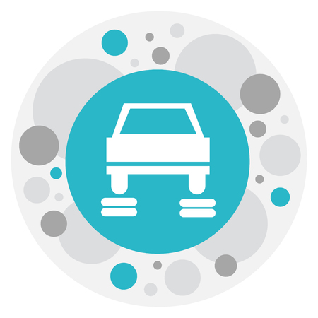 Vector Illustration Of Car Symbol On Service Icon. Premium Quality Isolated Repair Element In Trendy Flat Style.
