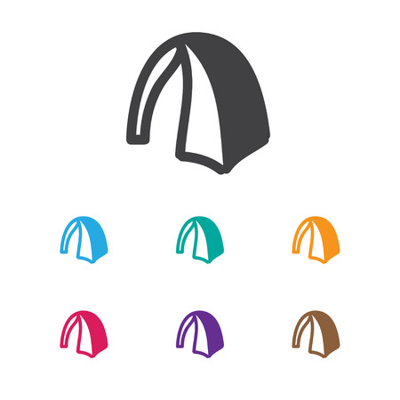 Vector Illustration Of Travel Symbol On Circus Icon. Premium Quality Isolated Camp Element In Trendy Flat Style.