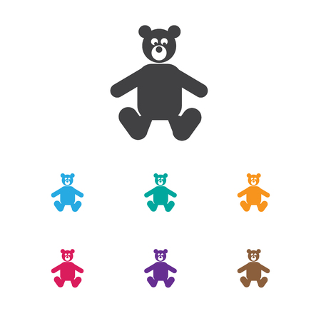Vector Illustration Of Child Symbol On Bear Toys Icon. Premium Quality Isolated Teddy Element In Trendy Flat Style.