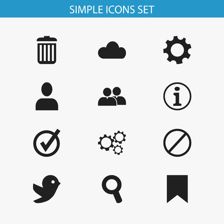 alright: Set Of 12 Editable Web Icons. Includes Symbols Such As Settings, Recycle Bin, Approved And More. Can Be Used For Web, Mobile, UI And Infographic Design.