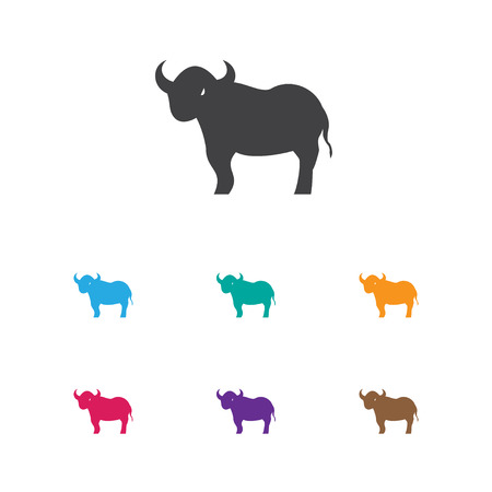 Vector Illustration Of Zoology Symbol On Bull Icon. Premium Quality Isolated Ox Element In Trendy Flat Style. Illustration