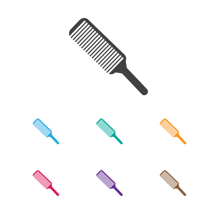 coiffeur: Vector Illustration Of Hairstylist Symbol On Hairbrush Icon. Premium Quality Isolated Grooming Element In Trendy Flat Style.