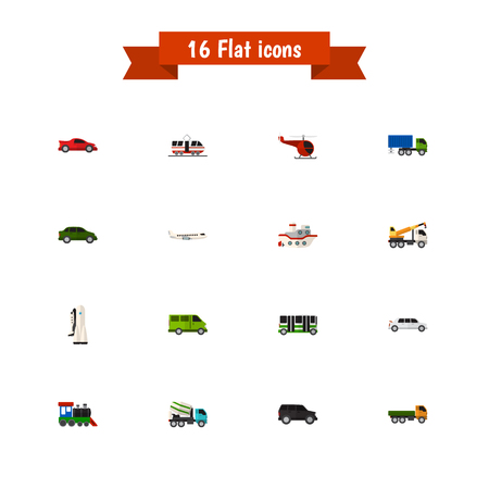 high speed train: Set Of 16 Editable Car Icons. Includes Symbols Such As Aircraft, Automobile, Cement Blender And More. Can Be Used For Web, Mobile, UI And Infographic Design.