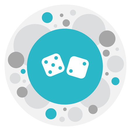 Vector Illustration Of Gambling Symbol On Dice Icon. Premium Quality Isolated Gambling Cube Element In Trendy Flat Style.