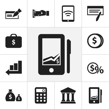 Set Of 12 Editable Investment Icons. Includes Symbols Such As Edifice, Greenback, Tax And More. Can Be Used For Web, Mobile, UI And Infographic Design. Ilustração