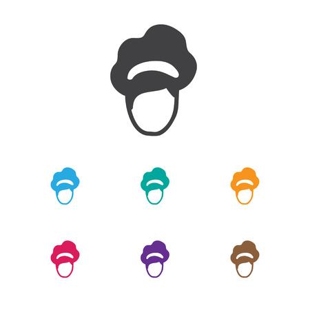 coiffeur: Vector Illustration Of Hairdresser Symbol On Beauty Icon. Premium Quality Isolated Hairdo Element In Trendy Flat Style.
