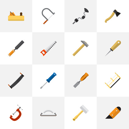 Set Of 16 Editable Apparatus Icons. Includes Symbols Such As Bodkin, Bit, Nag And More. Can Be Used For Web, Mobile, UI And Infographic Design.