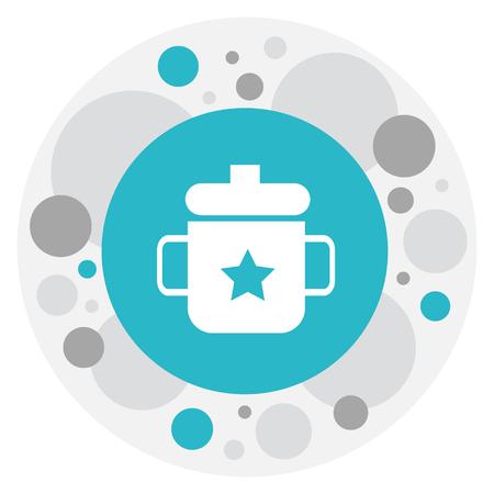 Vector Illustration Of Baby Symbol On Mug Icon. Premium Quality Isolated Goplet Element In Trendy Flat Style. Ilustração