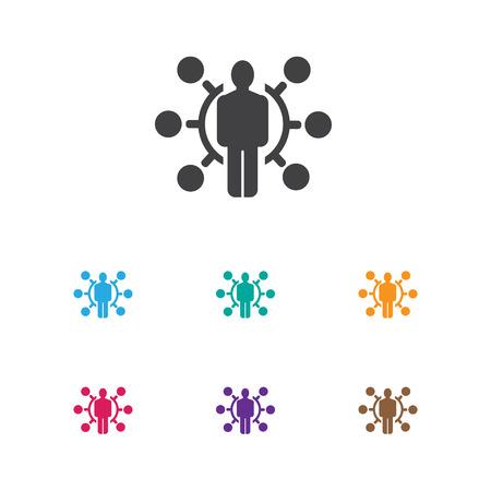Vector illustratie van zakelijke symbool op vaardigheden pictogram. Premiumkwaliteit geïsoleerd talentelement in trendy vlakke stijl. Vector Illustratie