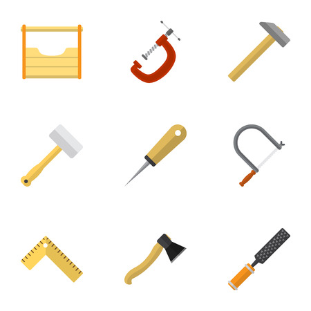 exchanger: Set Of 9 Editable Tools Icons. Includes Symbols Such As Hammer, Axe, Meter And More. Can Be Used For Web, Mobile, UI And Infographic Design. Illustration