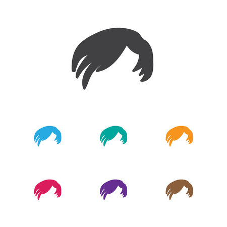 coiffeur: Vector Illustration Of Coiffeur Symbol On Hair Style Icon. Premium Quality Isolated Hairdressing Element In Trendy Flat Style.